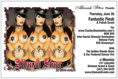TranSexFlyerx Transexdomination.com Sponsors Fantastic Flesh, NYC