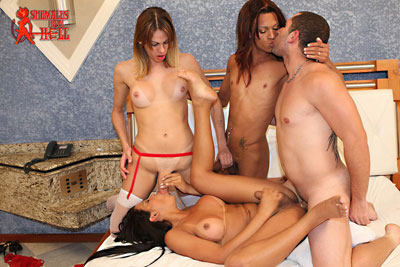 shemales from hell orgy03x Shemales From Hell Had a RAUNCHY TRANNY ORGY...