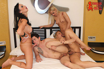 shemales from hell orgy05x Shemales From Hell Had a RAUNCHY TRANNY ORGY...