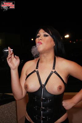5delilahPK003x Mistress Delilah Enjoys a Quiet Smoke Break