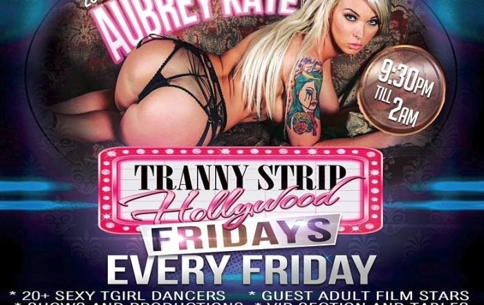 Meet Aubrey Kate and Domino Presley Tonight at TGirls Hollywood Party