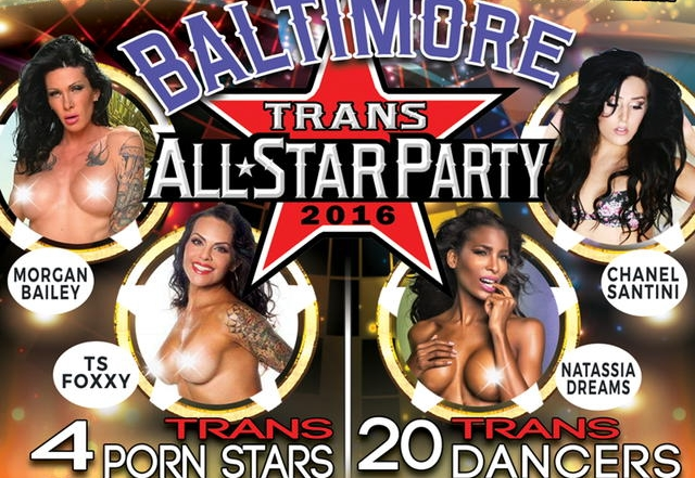 Tran All-Star Party in Baltimore this Friday and Saturday with Award Winning TS Starlets