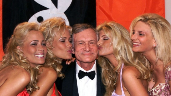 Hugh Hefner Playboy Through The Benz