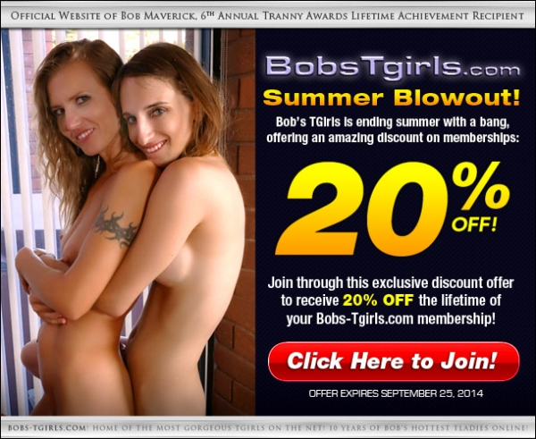 bobstgirls summer discount 600x491 Grooby Exclusive Deal: Score 20% Off at Bobs TGirls.com