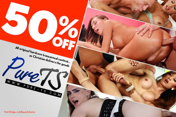 Score 50% Off Your First Month at Christian XXX's Pure TS!
