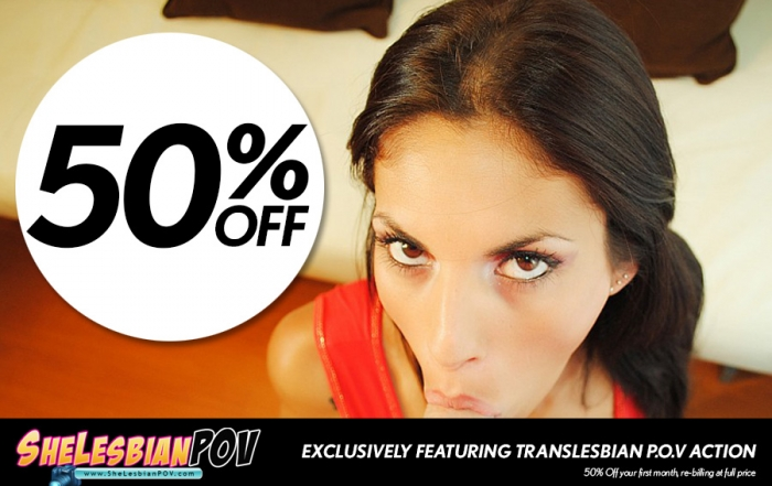 Snag 50% off your first month at Shelesbian POV!